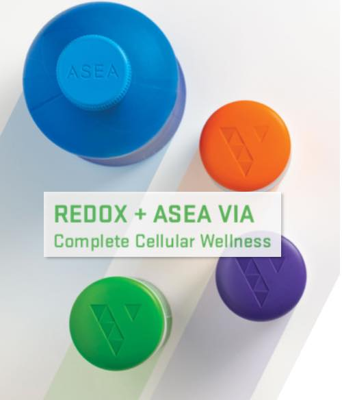 ASEA redox VIA bottle caps complete cell wellness